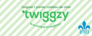 Gagnez un panier cadeau de la boutique en ligne écologique Twiggzy!