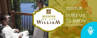 Gagnez un forfait détente de 4 nuits au Manoir du Lac William d'une valeur de plus de 2500$!