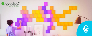 Gagnez un kit de panneaux LED Nanoleaf en collaboration avec le site de Guide Vacances!