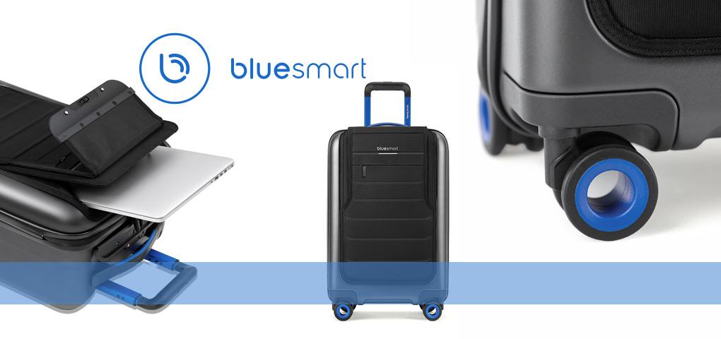 Ne perdez plus votre valise en voyage grâce à la valise intelligente Bluesmart One!