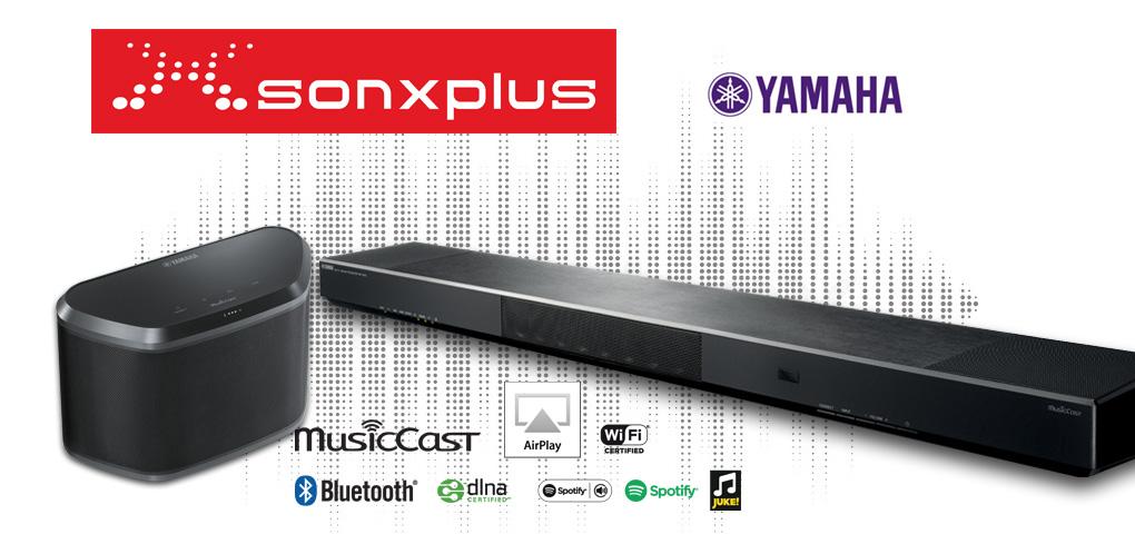 Gagnez une barre de son et un haut-parleur Yamaha grâce à SONXPLUS!