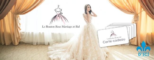 Gagnez l'une des 5 cartes-cadeaux pour découvrir Le Bouton Rose Mariage et Bal!