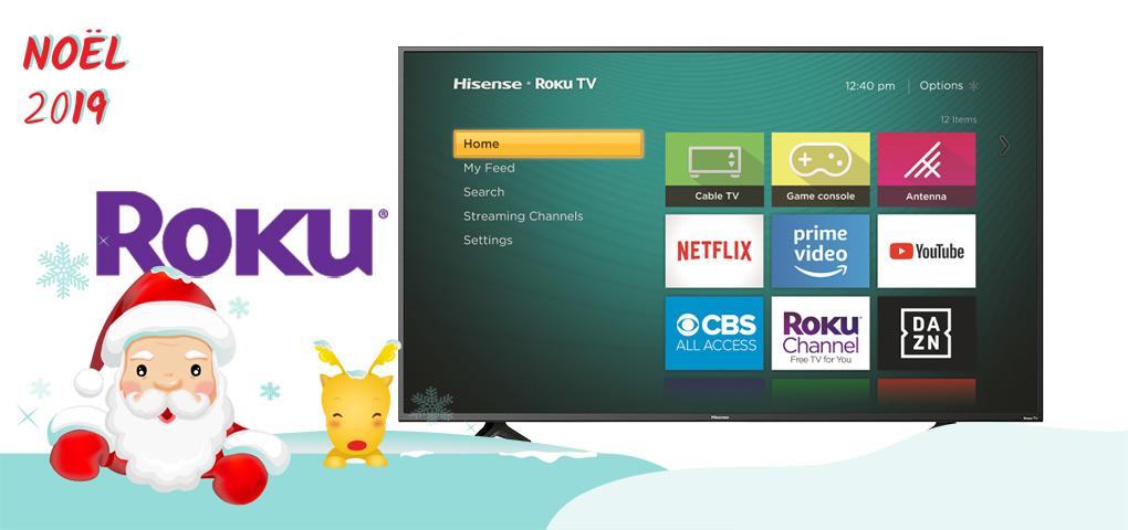 Gagnez une télévision Hisense intelligente 4K 55po avec Roku intégré!