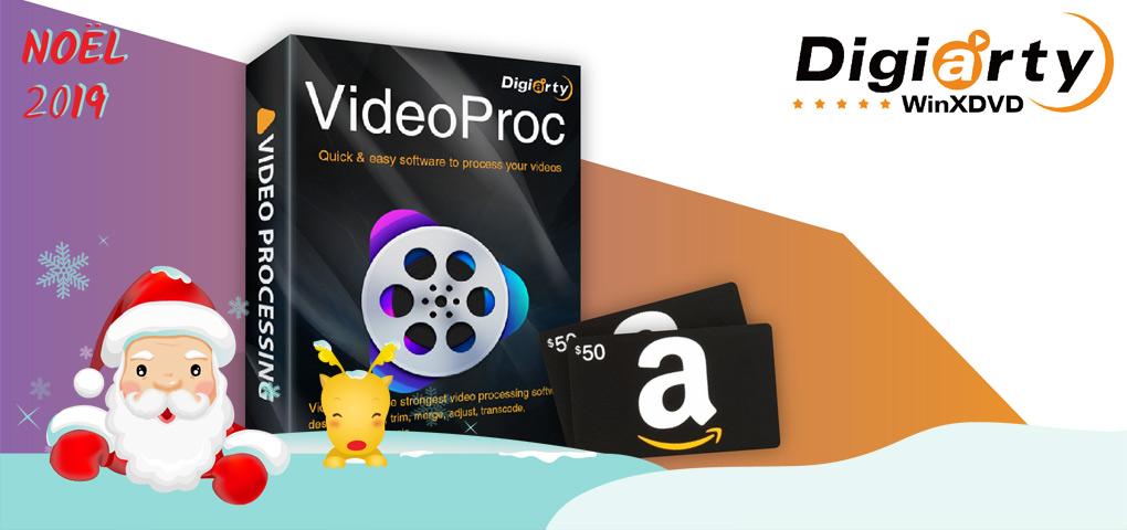 Gagnez un logiciel pour traiter toutes vos vidéos en plus d'une carte cadeau Amazon de 50$