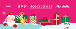Gagnez l'une des 6 cartes cadeaux de 50$ Winners/Marshalls/Homesense!