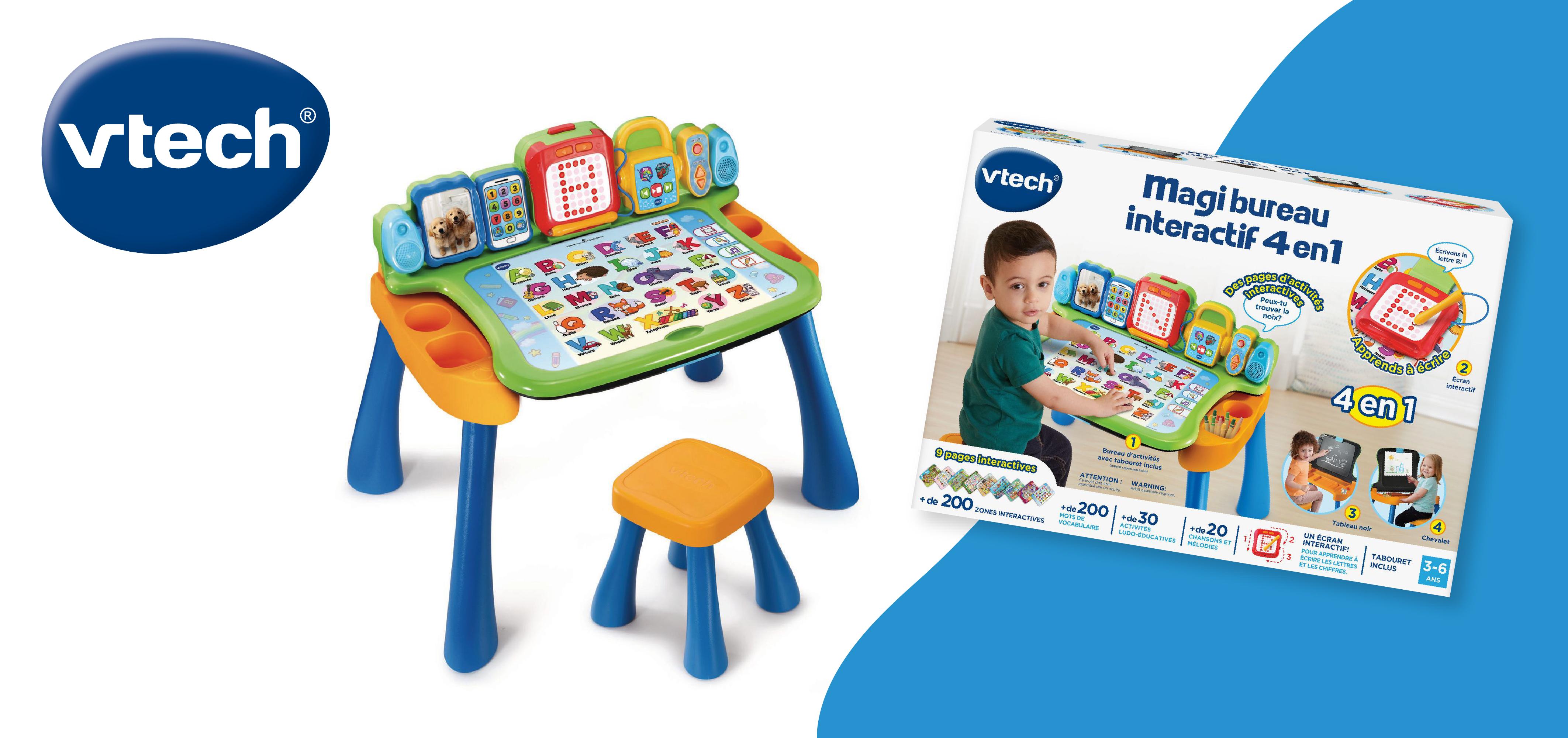 Gagnez un Magi Bureau interactif 4 en 1 de VTech pour amuser et éduquer les enfants