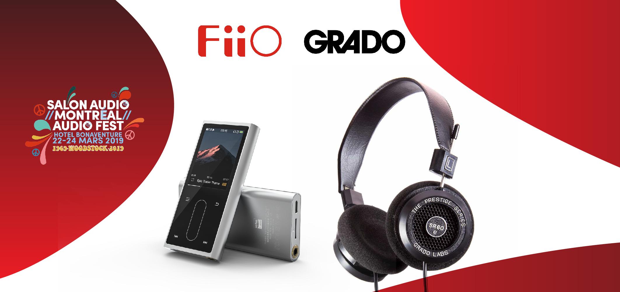 Gagnez un lecteur MP3 FiiO et une paire d'écouteurs Grado grâce au Salon Audio de Montréal